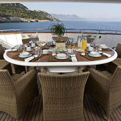 Idylle Yacht Aft Dining