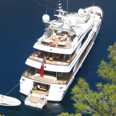 Lumiere Yacht Aerial View - Aft Decks