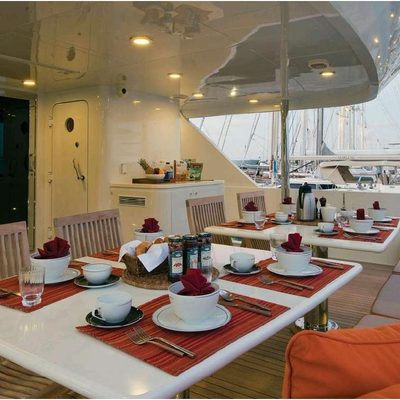 Chosen One Yacht Exterior Dining
