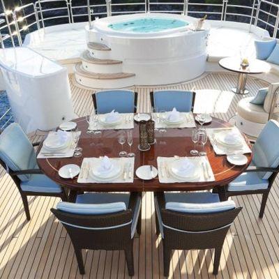 Harmony III Yacht Exterior Dining & Jacuzzi
