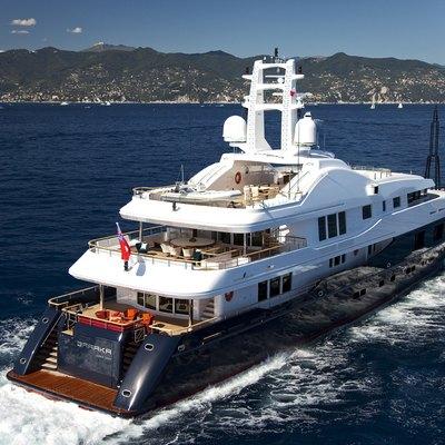 Baraka Yacht Running Shot - Rear View