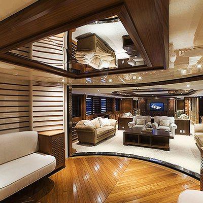 Princess Iolanthe Yacht View into Salon