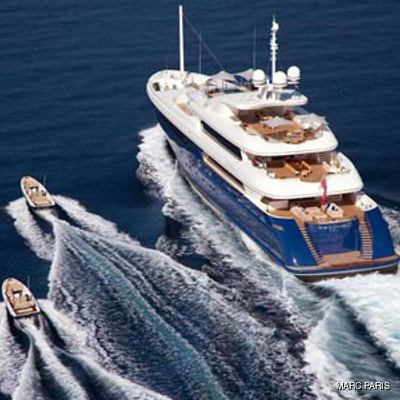 Mary-Jean II Yacht Rear View - Tenders