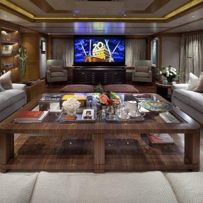 Lady Britt Yacht Main Deck Salon