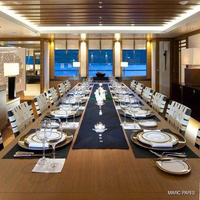 Mary-Jean II Yacht Dining Area