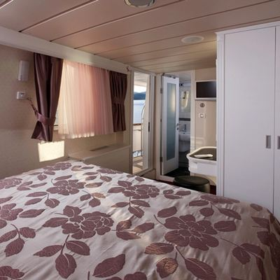 La Perla Yacht Guest Stateroom with Balcony View