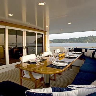 Maverick II Yacht Upper Deck Exterior Dining