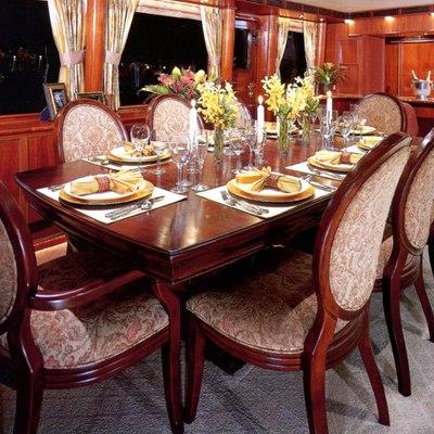 Forty Love Yacht Dining Salon