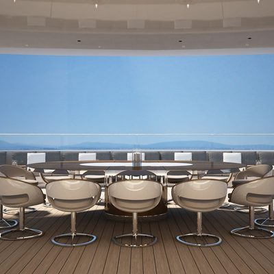 Nautilus Yacht Large Dining Table On The Sundeck