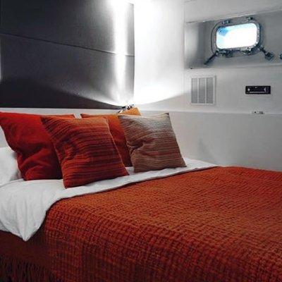 Berzinc Yacht Red Guest Stateroom