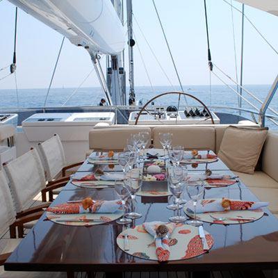 Prana Yacht External Dining