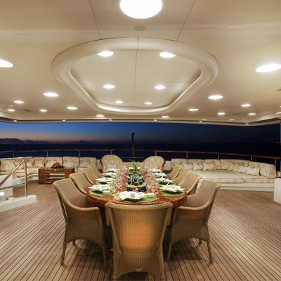 Jaguar Yacht Exterior Dining - Sunset