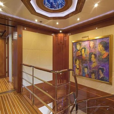 Lady Sheridan Yacht Staircase