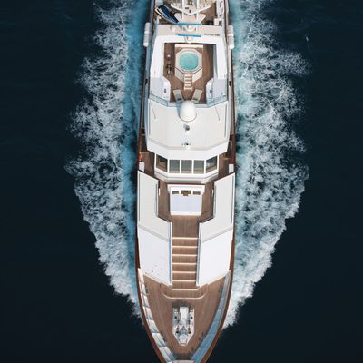 Eclipse Yacht Running Shot - Overhead