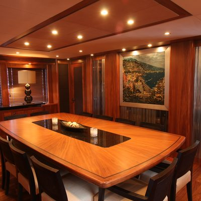 The Devocean Yacht Main Deck Formal Dining