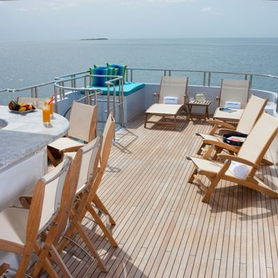Just Enough Yacht Sundeck Looking Aft