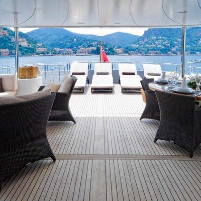 Accama Yacht Top Deck Lounging