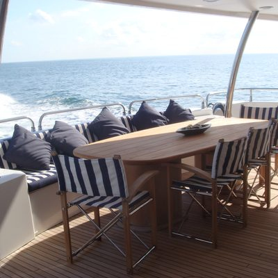 The Devocean Yacht Aft Deck Dining