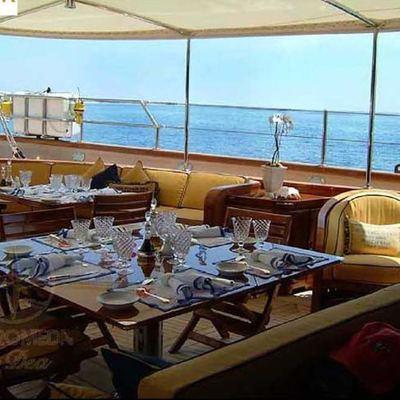 Andromeda la Dea Yacht Aft Deck Dining