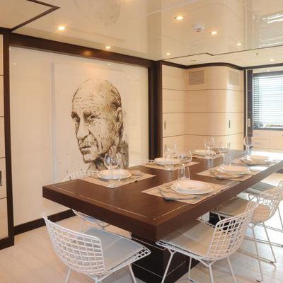 Michka V Yacht Dining Salon