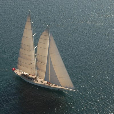 Gweilo Yacht Aerial Forward View