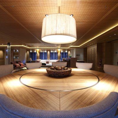 Naia Yacht Interior Dining