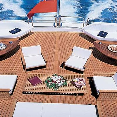 Lou Spirit Yacht Sundeck Seating Area