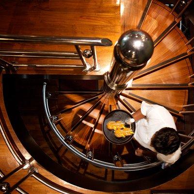 Dhaainkan'baa Yacht Staircase