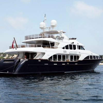 African Queen Yacht Rear View