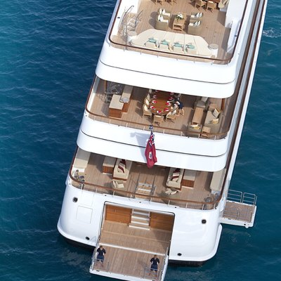Lady Britt Yacht Ariel View Of The Aft Deck