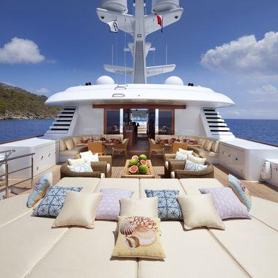 Lady Britt Yacht Sundeck Aft