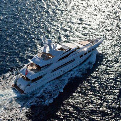 Seven S Yacht Running Shot - Aerial
