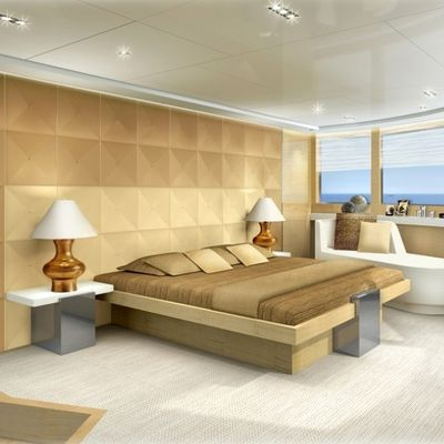 La Pellegrina Yacht Artist's Impression - Guest Stateroom