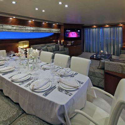 Marnaya Yacht Dining Area