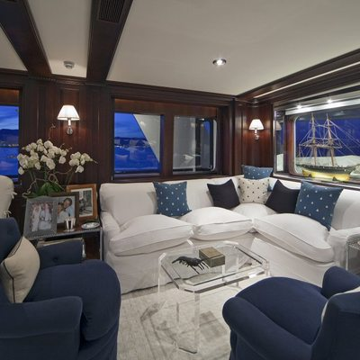 Virginian Yacht Forward Salon - Side View