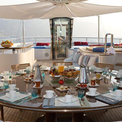 Latitude Yacht Sundeck Dining