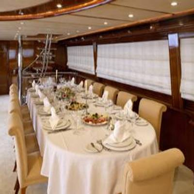 Corvus Yacht Dining Salon