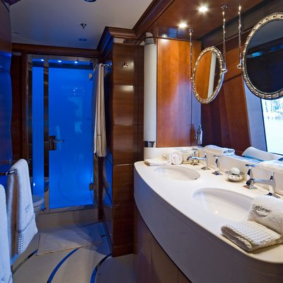 Latitude Yacht Blue Guest Bathroom