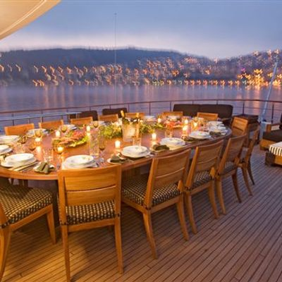 Sea Dream Upper Aft Deck Sunset