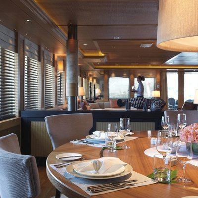 Naia Yacht Interior Dining - Table Set