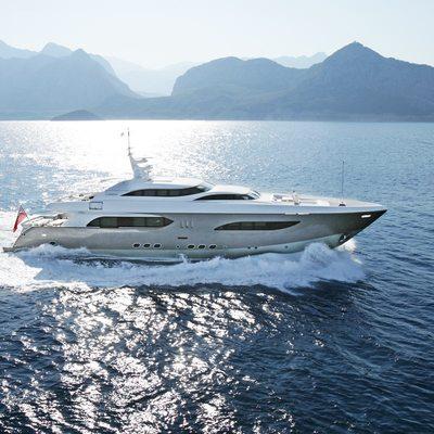 Namaste 8 Yacht Running Shot - Profile