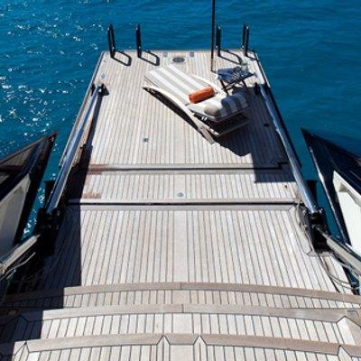 Tiara Yacht Stairs leading to swim platform