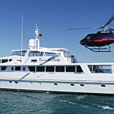 Emerald Lady Yacht Profile with Helicopter