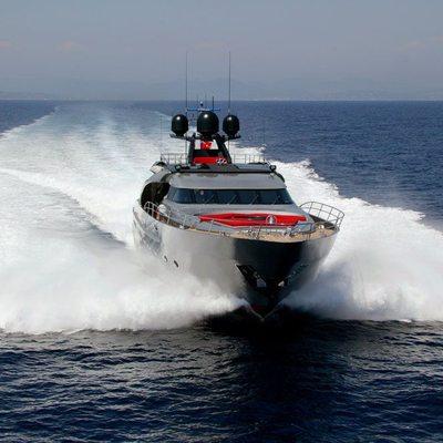 Dragon Yacht Running Shot - Bow