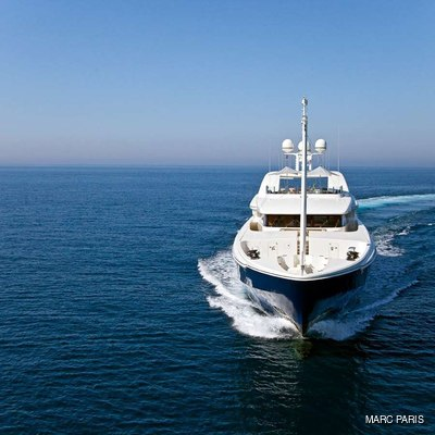 Mary-Jean II Yacht Running Shot - Front