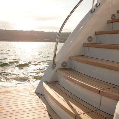 Avalon Yacht Swim Deck Stairs