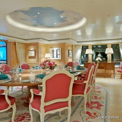 Bella Vita Yacht Interior Dining