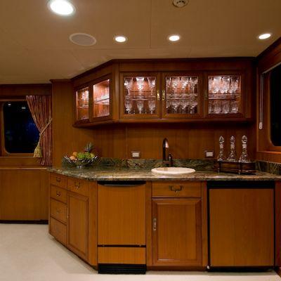Sea Falcon II Yacht Main Salon Bar