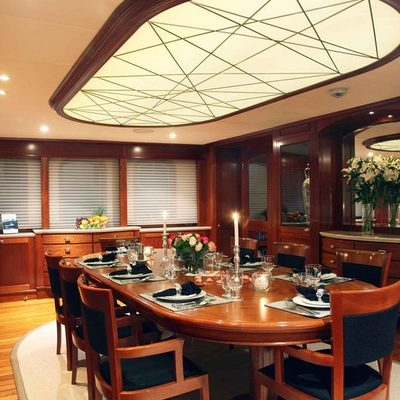 Asteria Yacht Dining Salon