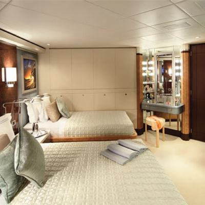Sycara V Yacht Twin Stateroom - Side View